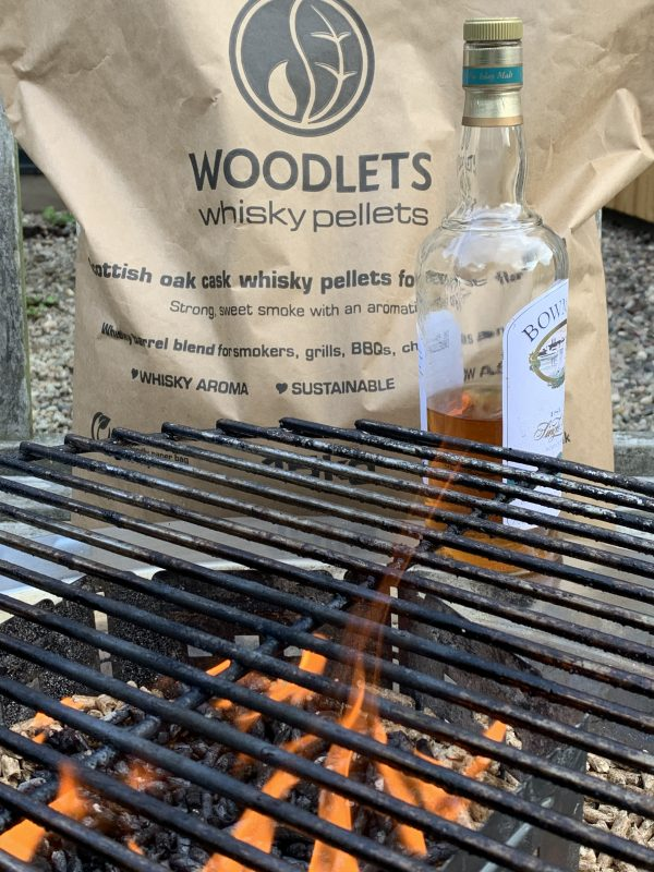 Whisky pellet cooking